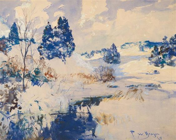 Frank Weston Benson - Winter Hills