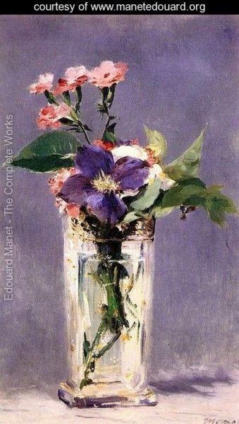 Edouard Manet   Pinks-and-Clematis-in-a-Crystal-Vase-large