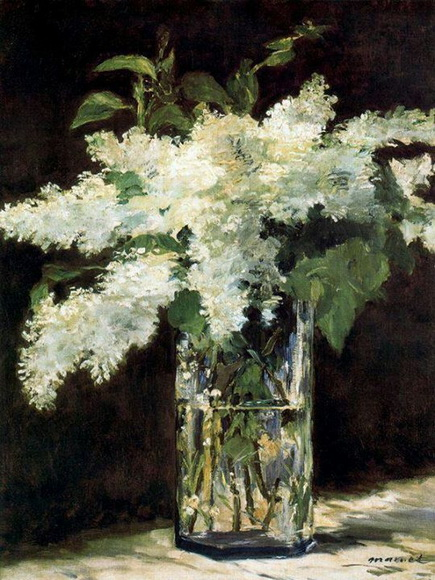 Edouard Manet   White Lilacs