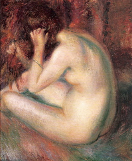 William James Glackens  Back of nude