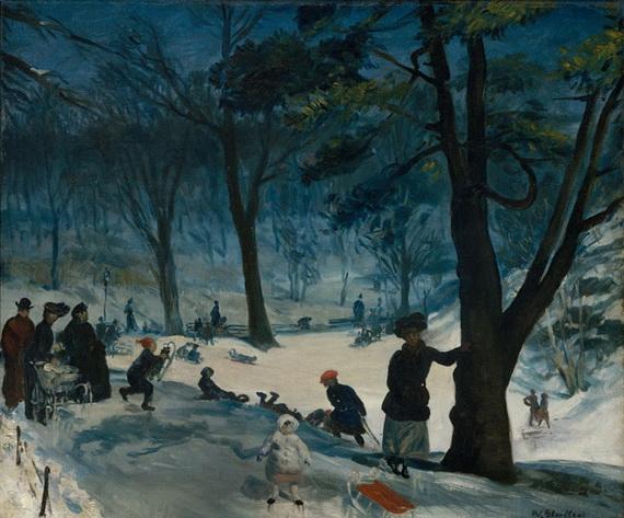 William James Glackens  Центральный парк
