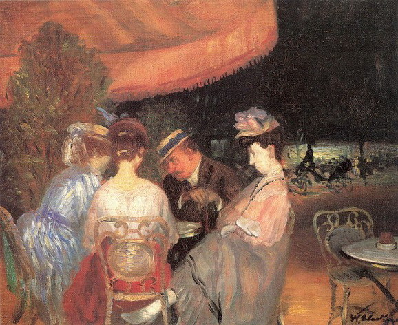 William James Glackens Cafe de la Paix
