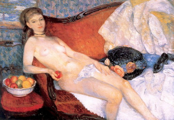 William James Glackens nude with apple 1910