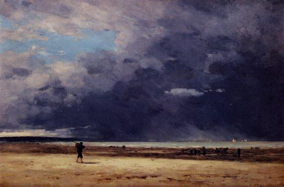Eugene Boudin Deauville, Low Tide