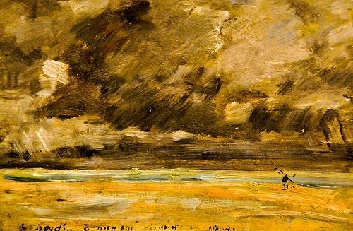 Eugene Boudin The Beach at Trouville, Stormy Weather