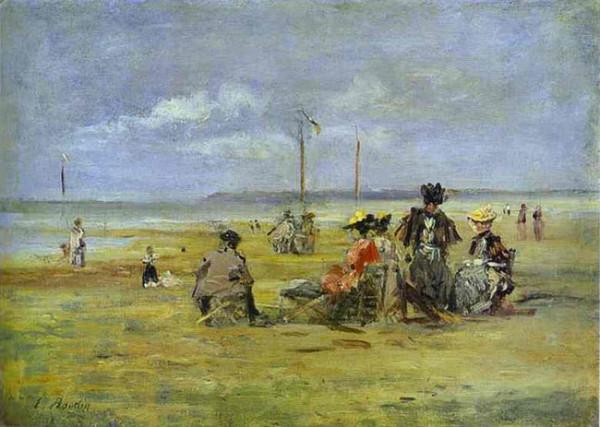 Eugene Boudin Сцена на пляже