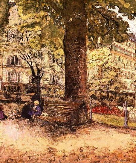 Edouard Vuillard - A Bench, Square Vintimille