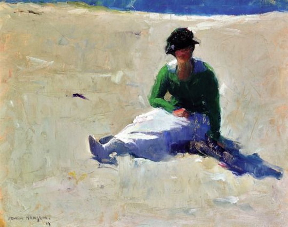 Armin Hansen - Hazel Jenssen on the Beach