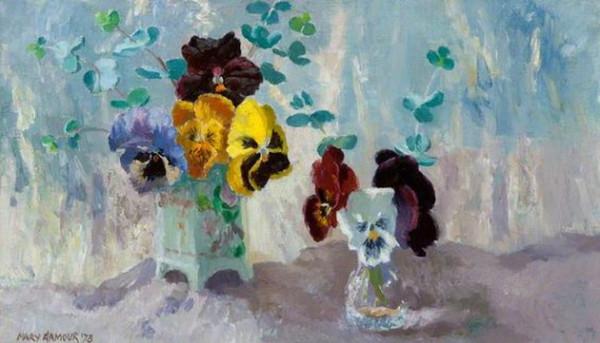 Mary Nicol Neill Armour - Pansies