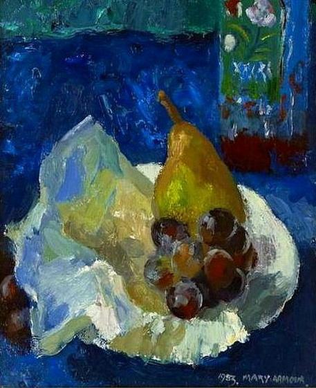 Mary Nicol Neill Armour - Pear on a Plate