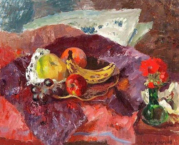 Mary Nicol Neill Armour - Plate of Fruit