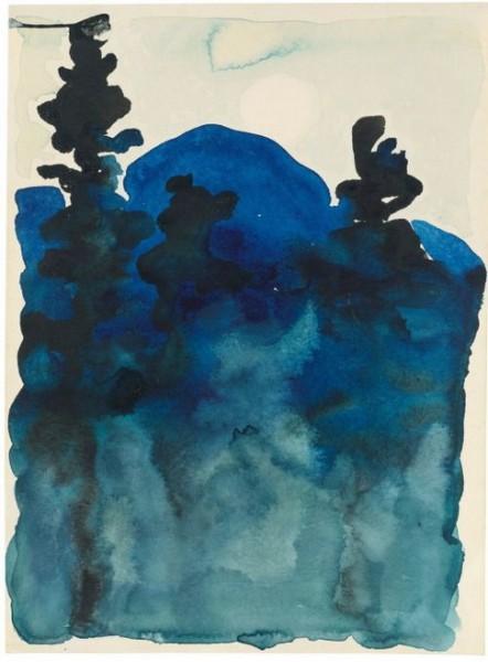 Georgia O'Keeffe - Blue Hills No. III