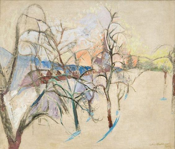 Anton Mahringer - Obstgarten im Winter