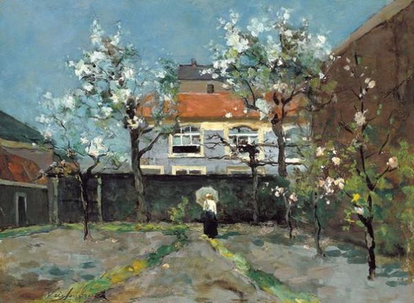 Johan Hendrik Weissenbruch - Back-garden