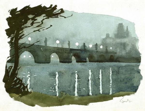 Eduard Tomek - Karluv most v noci