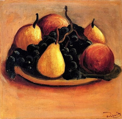 Andre Derain  -  Pears, Peaches and Grapes