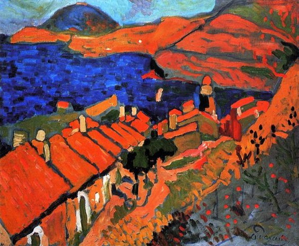 Andre Derain  -  the Village and the Ocean