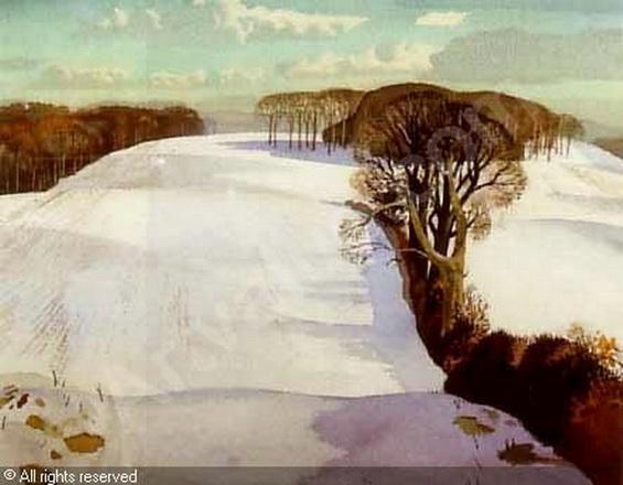 Rowland Hilder - winter-landscape