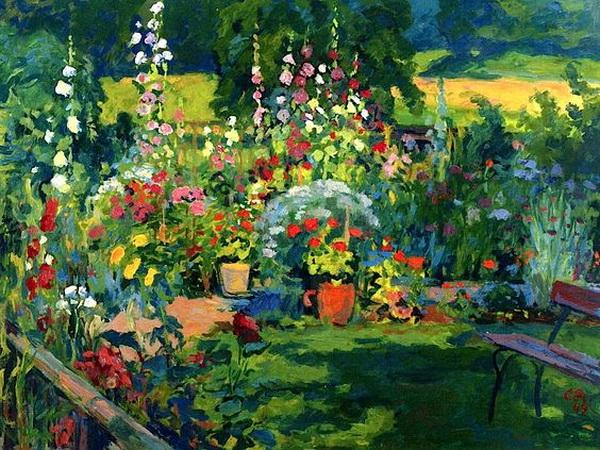 Cuno Amiet -   Portrait of a Garden
