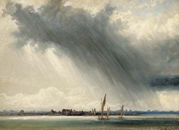 William Lionel Wyllie - An approaching squall