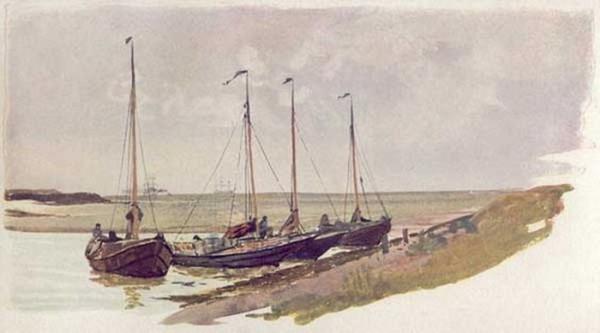 William Lionel Wyllie - Dutch Mussel Boats