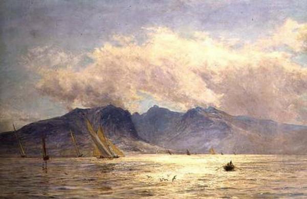 William Lionel Wyllie - goat_fell_arran_sailing_boats