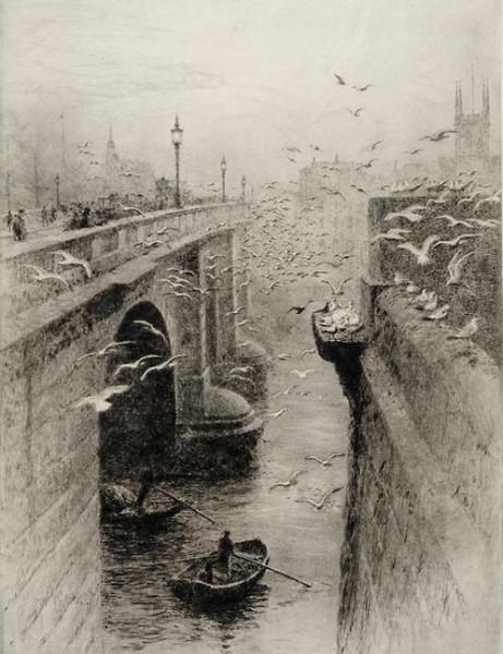 William Lionel Wyllie - London Bridge