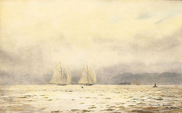 William Lionel Wyllie - Plymouth Sound