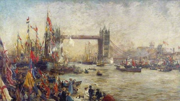 William Lionel Wyllie - The Opening Of Tower Bridge