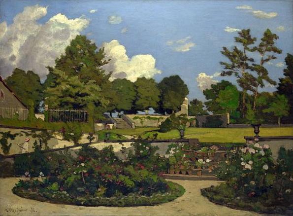 Henri Joseph Harpignies -  The Painter's Garden at Saint-Prive