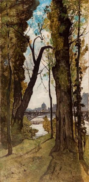 Henri Joseph Harpignies - The Pont des Saints-Peres