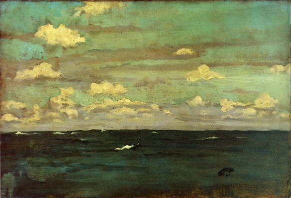 James Abbott McNeill Whistler  -   Violet and Silver, A Deep