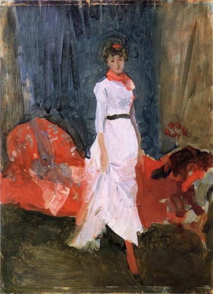 James Abbott McNeill Whistler  -  Arrangement in Pink, Red and Purple