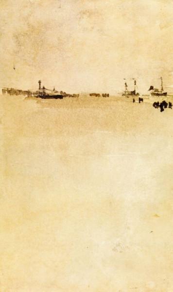 James Abbott McNeill Whistler  -  Beach Scene