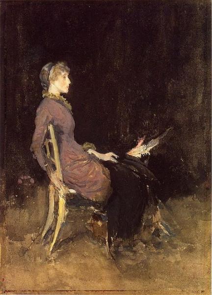 James Abbott McNeill Whistler  -  Black and red