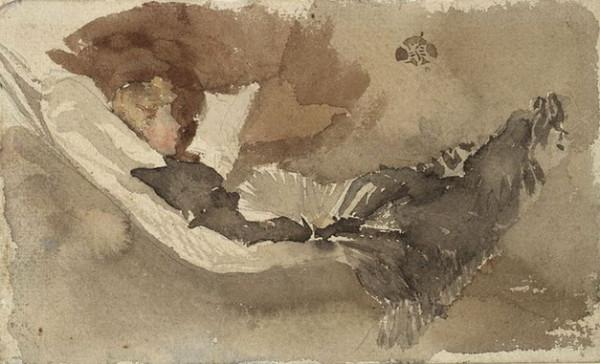James Abbott McNeill Whistler  -  Maud readin