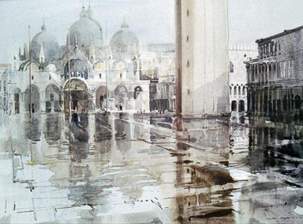 Mike Chaplin - Venice Basilica in the Rain
