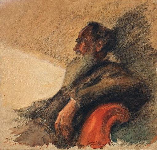 Pasternak -  Portrait of Leo Tolstoy