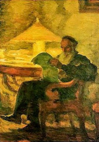 Pasternak - L.N. Tolstoy reading by a lamp