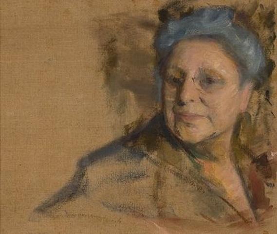 Pasternak - Portrait of his wife, Rosalia
