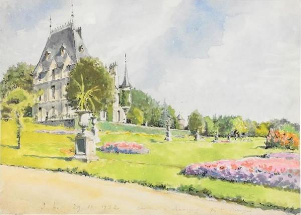 Alexander Benois -  Le Chateau de Ravigny