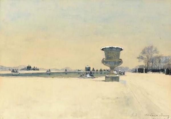 Alexander Benois -  View of a Park at Versailles