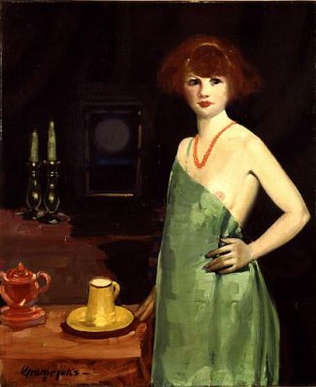 George Luks - Girl in Green