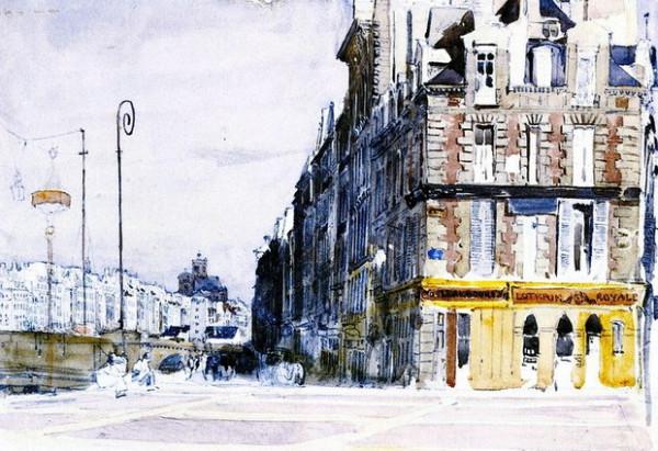 David Cox - Near the Pont d'Arcole