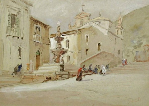 Hercules Brabazon Brabazon - Fountain, Taormina