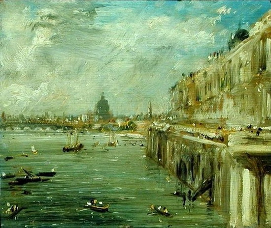 John Constable  - A View from the North End of Waterloo Bridge with St. Paul's Cathedral