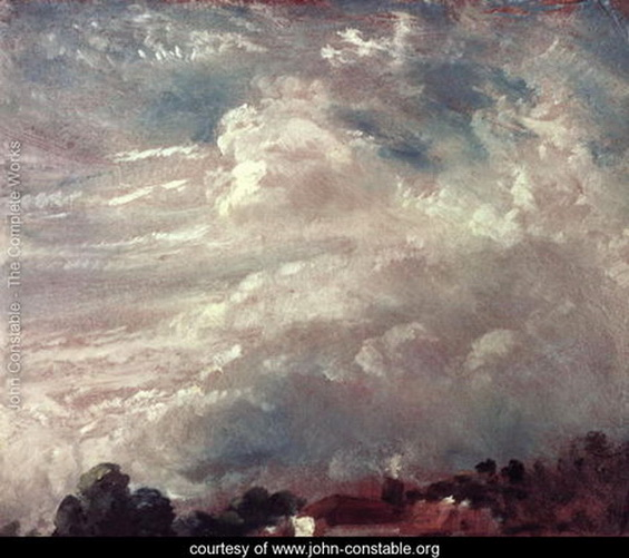 John Constable  - Cloud study, horizon of trees
