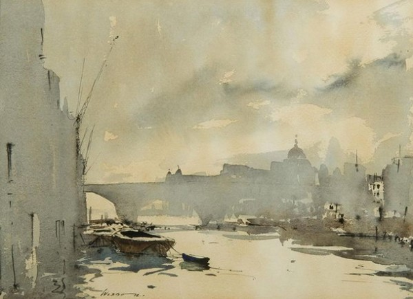 Edward Wesson -  City riverscape