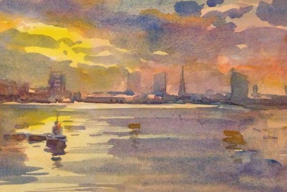 Jose De Juan - The Thames from Greenwich