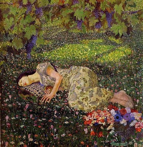 Felice Casorati - Dreaming of Pomegranates